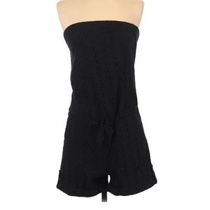 The Limited Romper Size XS strapless black romper